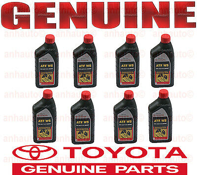 8 Quart GENUINE TOYOTA ATF WS Automatic Transmission oil Fluid ATFWS Lexus Scion