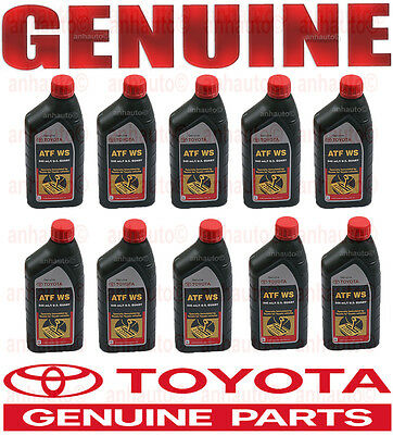10-Quart GENUINE TOYOTA ATF WS Automatic Transmission Fluid ATFWS Lexus Scion