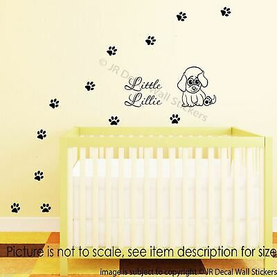UP TO 72 Puppy Dog Paw Print Vinyl Decal Stickers Cute Wall Art Kids ...