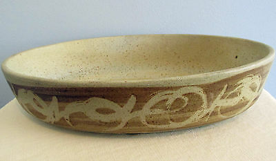 """Stoneware Designs West SDW  12"""" Abstract ART California Pottery Design  Bowl"""