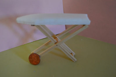 Miniature Ironing Board in 1:12 Doll scale