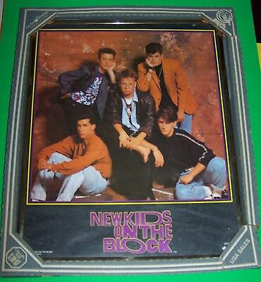 """NEW Vintage 1st Place Designs 16"""" x 20"""" New Kids On The Block Framed Poster"""