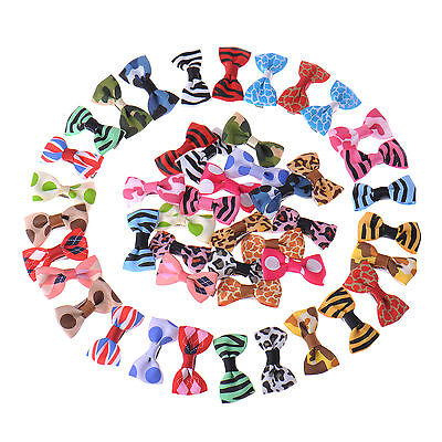 10/20/50/100pcs Puppy Pet Grooming Ribbon Cat Dog Bows Bow Hair Clip Accessories