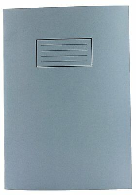 Silvine Exercise Book Plain 75gsm 80 Pages A4 Blue Ref EX114 [Pack of 10]