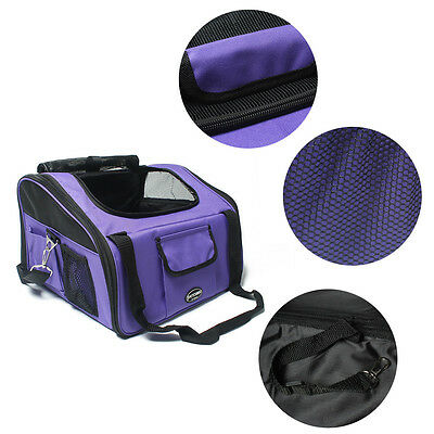 Portable Pet Dog Cat Puppy Carrier Travel Carry Bag Cage Folding Crate Kennel