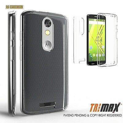 For Moto X Force Droid Turbo 2 XT1585 Tri Max Full 360 Body Wrap Protector Case