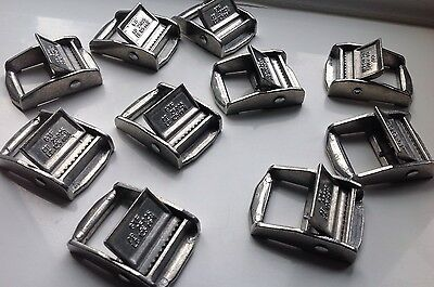 25mm Metal Cam Flap Buckles For Webbing  (250kg) x2 x5 x10 x50