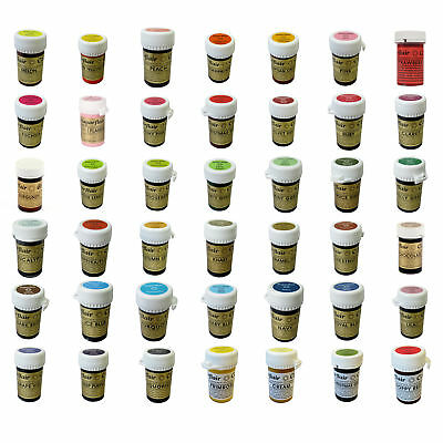 * Any 6 * Sugarflair Paste Edible Gel Concentrated Icing Food Colouring Colour