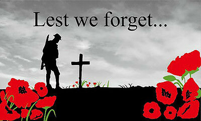 GIZZY® Lest We Forget (Remembrance Day) 5' x 3' flag
