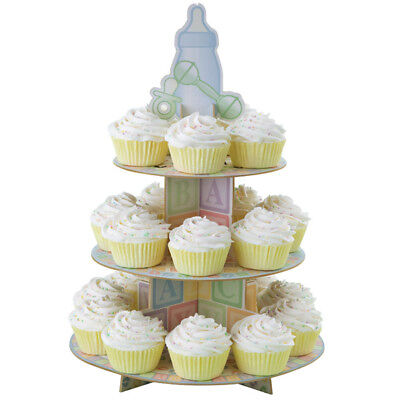 Wilton 3 Tier Baby Feet Cup cake Stand Display Baby Shower Christening Birthday