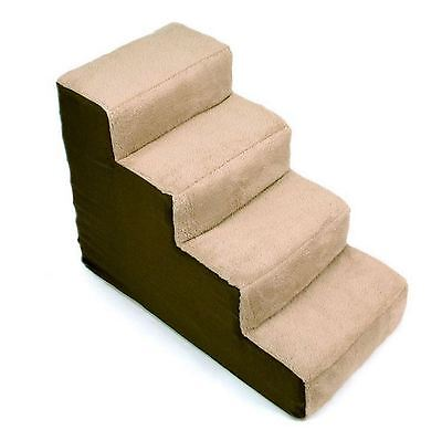 New 4-step Portable Pet Steps, Dog Cat Stairs, Climb up to Bed, Light Weight