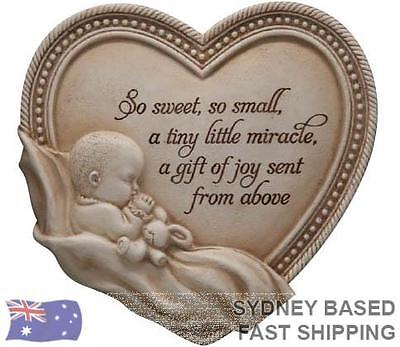 Arts in stone Memories NEW BORN gift plaque - New baby Christening Baptism Namin