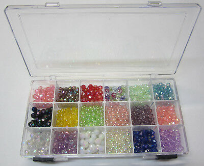 Childrens Beading Jewellery Making Kit Has Beads,Stretch Cord & Bead Container B