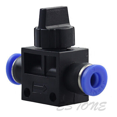 1/5/10PC Pneumatic Ball Valve Push In Fittings Connectors for Air/Water Tube 6mm