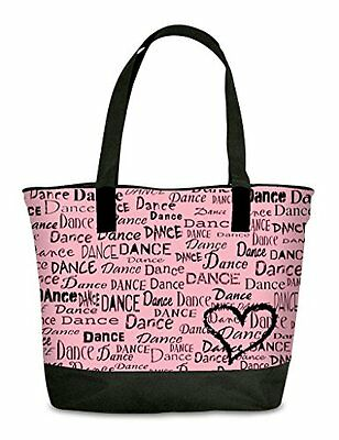 NEW Dance is in My Heart Womens Girls Tote Purse Bag PINK FREE HIPPING