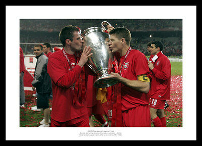 Steven Gerrard & Jamie Carragher Liverpool 2005 Champions League Final Photo