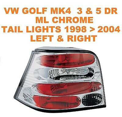 VW Golf Mk4 IV Hatchback Chrome ML Performance Lexus Style Rear Lights