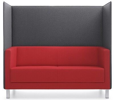 Sofa Vancouver LITE Schwarz Cocktailsofa Modern Lounge Empfangsessel