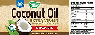 NEW Natures Way Extra Virgin Organic Coconut Oil 16 oz. FREE SHIPPING