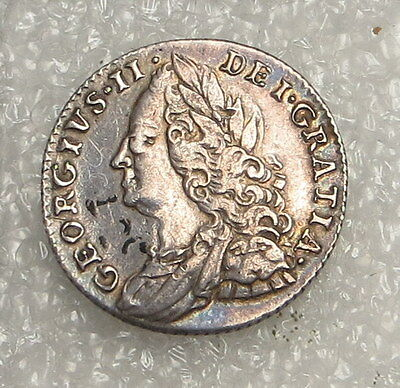 1758 Great Britain 6 Pence ungraded