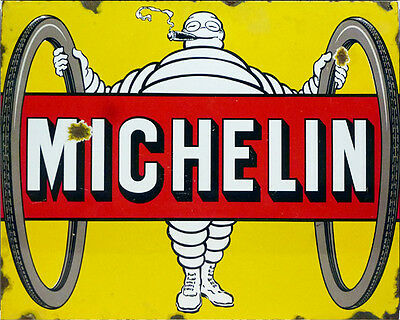 Michelin Tire advertisement ENAMEL METAL TIN SIGN WALL PLAQUE