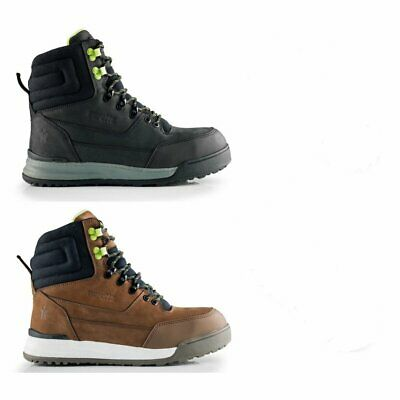 SCRUFFS GAME WORK BOOTS 200g Thinsulate Lined Warm Steel Toe Leather Black SRAS3