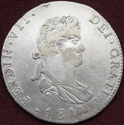 Mexico 1814 4 Reales - War of Independence - Guadalajara - GA M.R. - Silver Coin