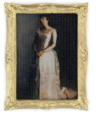 Dollhouse Miniature Victorian Lady Picture Gilded Frame for 1:12 Doll House