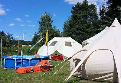 Glamping 4-Sterne Luxus Camping in Mecklenburg mit Whirlpool, Toilette usw