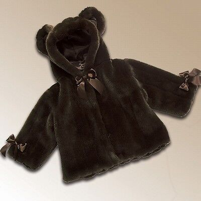 NWT Bearington Baby Collection Soft Mink Couture Coat 6-12 Months 198548