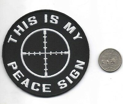 This Is My Peace Sign Patch 435 Picclick