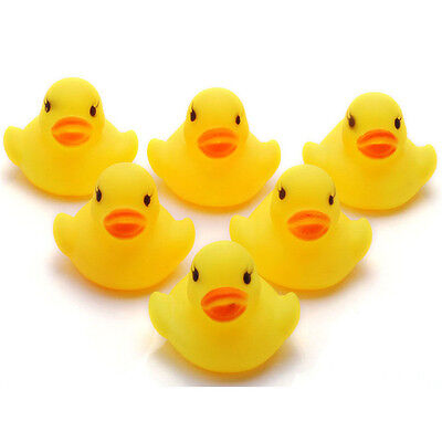 1/5/10/20Pcs Yellow Baby Puzzle Gift Bath Toys Cute Rubber Tweak Squeaky Duck