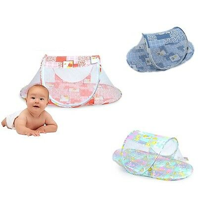 3 Colors Portable Foldable Baby Mosquito Tent Travel Infant Bed Net Instant Crib