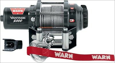 Warn Vantage 2000 lb 12V Winch w/ Wire Rope for Offroad ATV 4 Wheeler