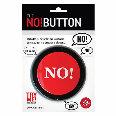 NOVELY NO! BUTTON - Large Red Desk Office Noise Sound Machine **FREE DELIVERY**