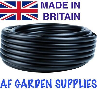 13mm Black LDPE Irrigation Pipe / Hydroponics, Supply Tube, Garden Watering
