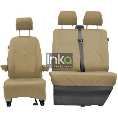 VW Transporter T5 T5.1 GP Front Inka Fully Tailored Waterproof Seat Cover Beige