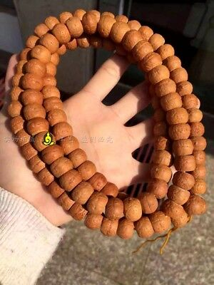 14mm Tibet Buddhism Old Phoenix eyes Bodhi Prayer Beads Mala Necklace