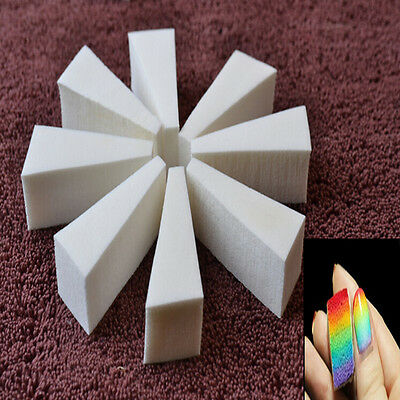 1set Nail Art Sponge Stamp Stamping Polish Template Transfer Manicure DIY Tools