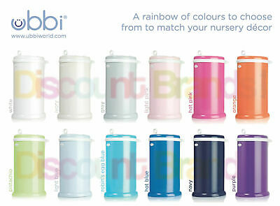 New Ubbi Nappy Diaper Pail Bin Eco Friendly - 12 Colours To Choose From Save !