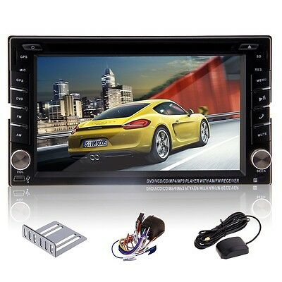 "6.2"" GPS 2DIN In Dash Car Stereo DVD CD MP3 Player Bluetooth iPod TV Radio Unit"