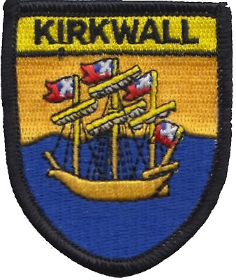 Kirkwall Orkney Islands Scotland Flag Embroidered Patch Badge
