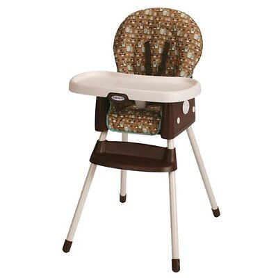 Graco SimpleSwitch HIGHCHAIR & BOOSTER, Portable BABY HIGH CHAIR, Little Hoot