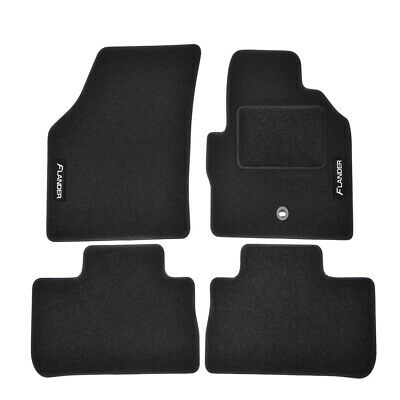 TAILORED Black floor Car Mats with logo LAND ROVER FREELANDER mk2  2007-2016
