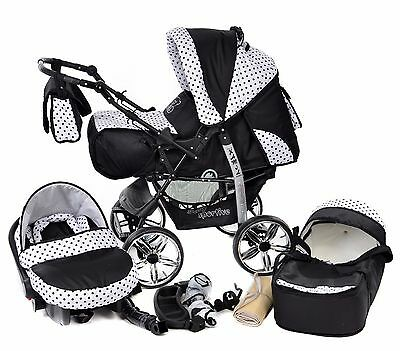 Baby Pram Buggy Pushchair Stroller Camel Reversible Carrycot All in One SET