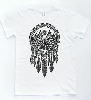 Illuminati Dreamcatcher T-shirt Indie Hipster Tee Retro Vintage Tumblr Top