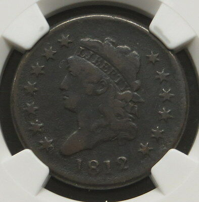 1812 Classic Head Large Cent NGC Certified Fine Details