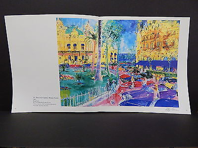 Leroy Neiman Double-Sided Book Plate Double Page 06 Place du Casino Monte Carlo