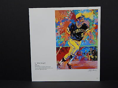 Leroy Neiman Double-Sided Book Plate S1#04 Willie Stargell Baseball Pirates