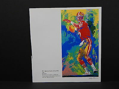 Leroy Neiman Double-Sided Book Plate S1#06 Quarterback Of The 80's Football SF